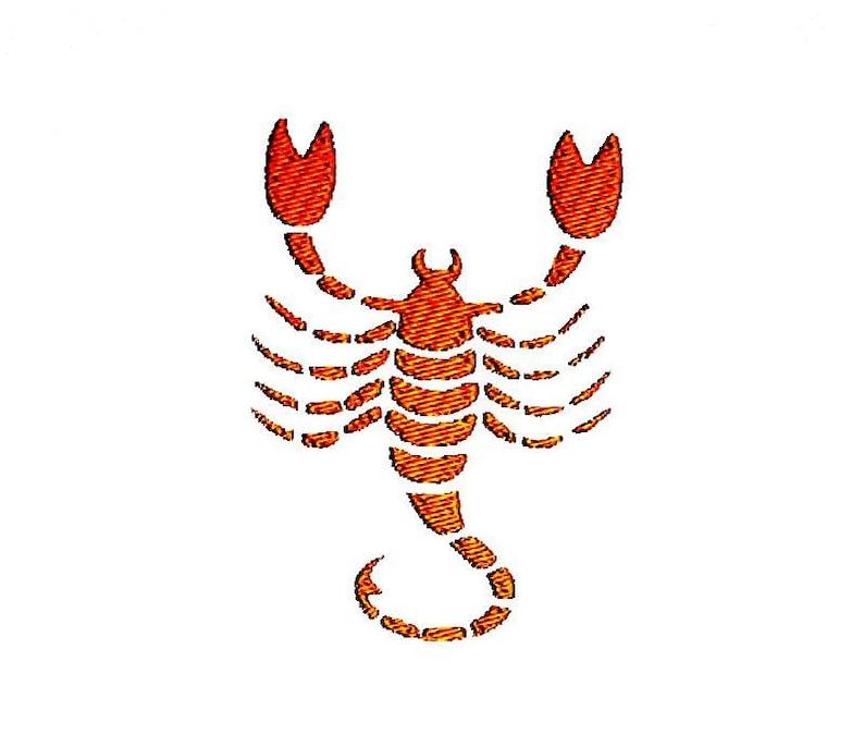 efabb1324b3f3 Scorpio Zodiac Sign Embroidery Design. Instant Download | Etsy