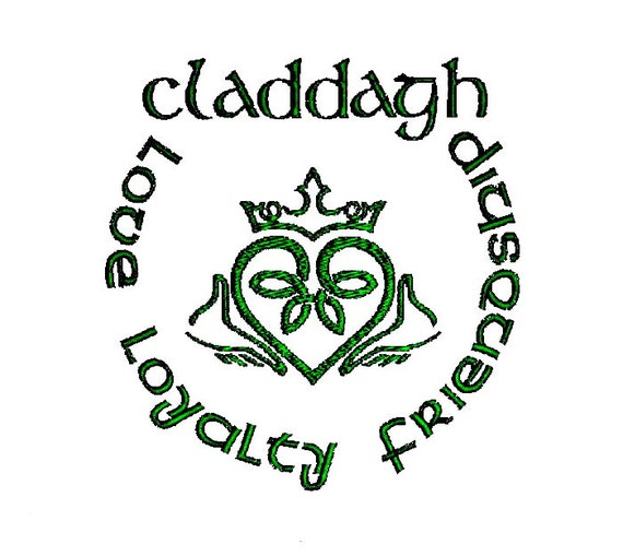 Irish Claddagh Ring Embroidery Design Etsy