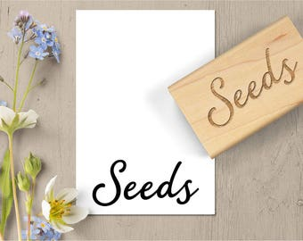 Garden Girl Planting Seed Farmer Wood Mounted Unmounted EZ Cling Rubber Stamp