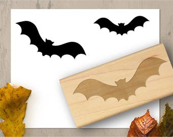 Bat Stamp Halloween Rubber Cute Spooky 036