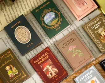 Mini Junk Journal Collage Kit - Book Style Paper Ephemera Pad, Journaling Supplies