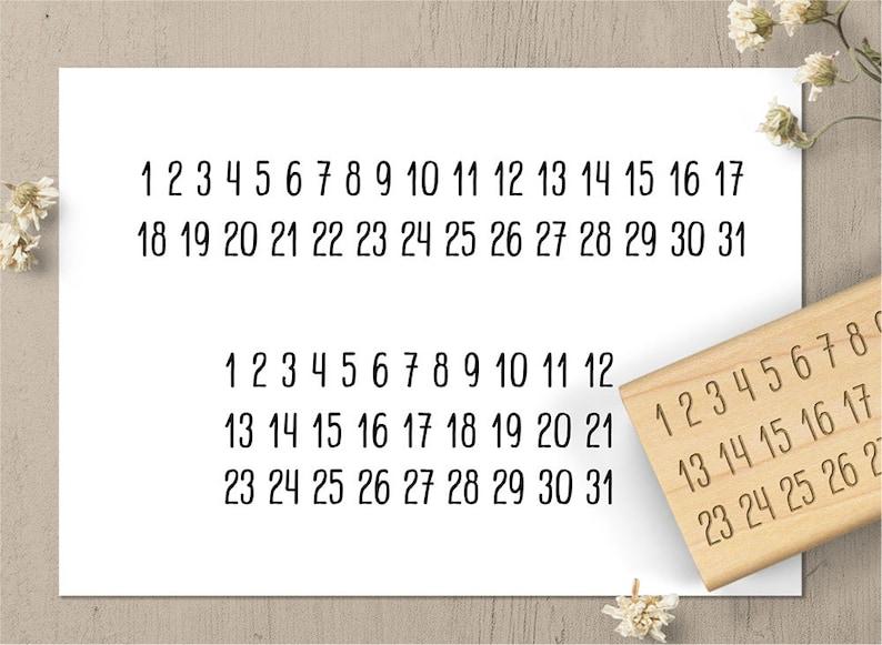 Calendario Solo Numeri.Solo Numeri Minimalista Calendario Bollo 1 31 Data Timbro Timbro Di Gomma Di Calendario Mensile Planner Timbro Timbro Gazzetta Bullet Tracker