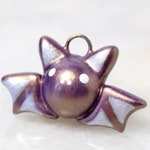 Violet Gold Bat Charm *Limited Edition* - Polymer Clay Charms - Kawaii Halloween Charm - Pastel Halloween Bat Jewelry
