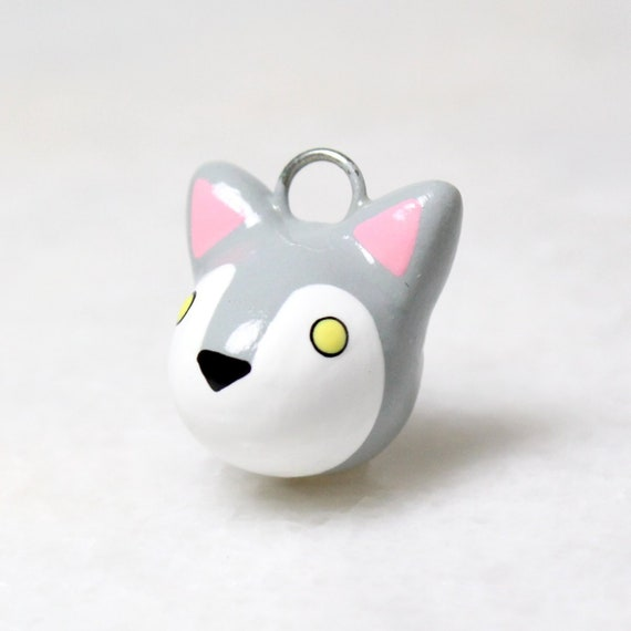 Image of: Penguin Etsy Gray Wolf Charm Polymer Clay Wolf Phone Charm Kawaii Etsy