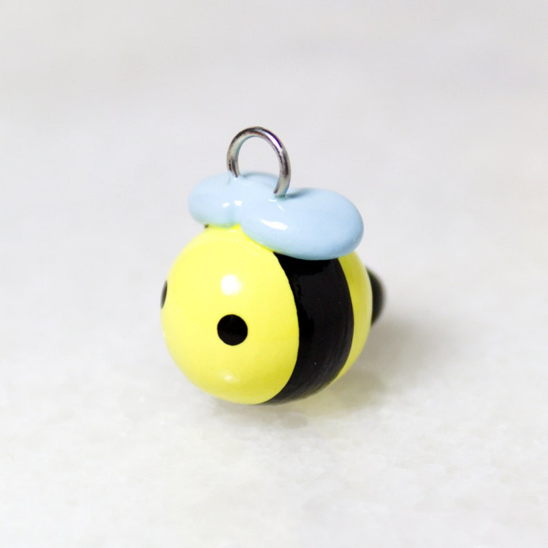 Kawaii Bumblebee Charm - Polymer Clay Honey Bee Phone Charm