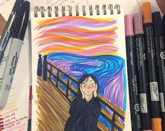 The Scream by Munch - Original Illustration