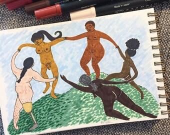 Dance (I) by Matisse - Original Illustration
