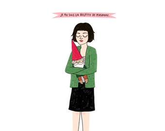 Amélie Print - Hand-Illustrated