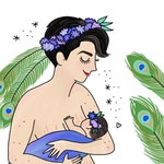 Hera, Goddess of Women, Marriage, Family, and Childbirth Print - Hand-Illustrated
