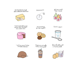 Foods of Broad City Print  - Hand-Illustrated