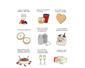Foods of Schitt's Creek - Hand-Illustrated