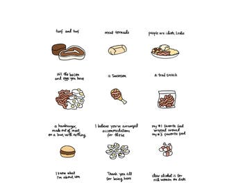 Foods of Ron Swanson - Digital Download