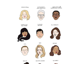The Good Place Mood Chart Print - Hand-Illustrated