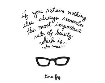 Tina fey quotes | Etsy