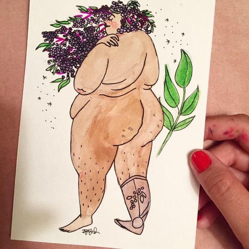 Elder Goddess Symbolic of Compassion  Original Illustration image 0