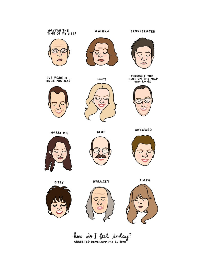 Arrested Development Mood Chart  Digital Download image 0