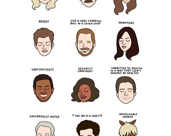 Parks and Rec Mood Chart Print - Hand-Illustrated