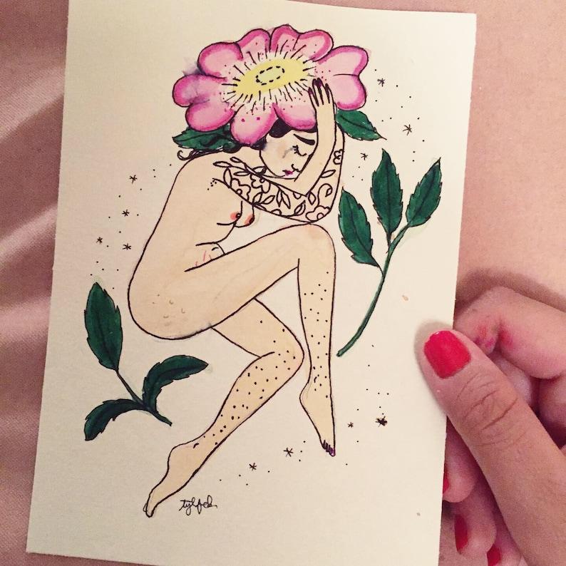 Eglantine Rose Goddess Symbolic of a Wound to Heal  Original image 0