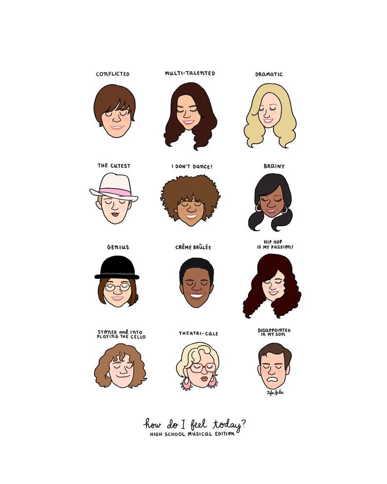 High School Musical Mood Chart  Digital Download image 0
