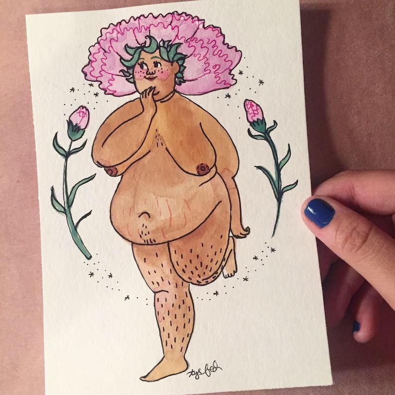 Mauve Carnation Goddess Symbolic of Dreams of Fantasy  image 0