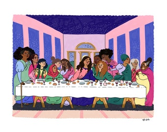The Last Supper by da Vinci - Intersectional Inktober Version - Print - Hand-Illustrated