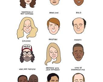 30 Rock Mood Chart Print - Hand-Illustrated