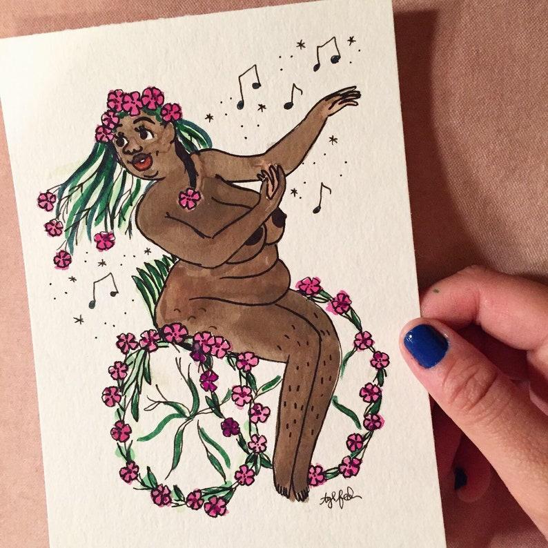 Sticky Catchfly Goddess Symbolic of An Invitation to Dance  image 0