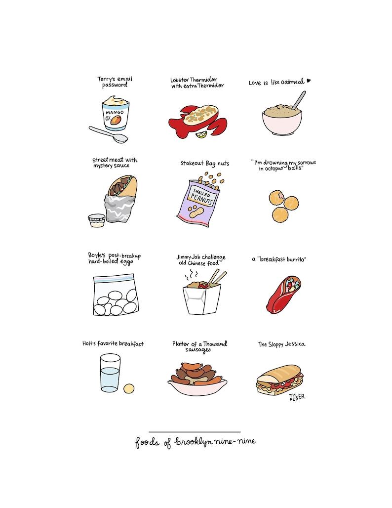 Foods of Brooklyn 99  Digital Download image 0
