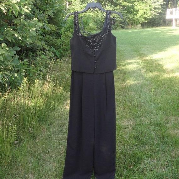 Vintage Laundry by Shelli Segal Black Sequin Jumps