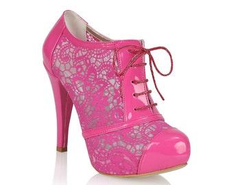 dd9e816ea43 Fuchsia bridal shoes