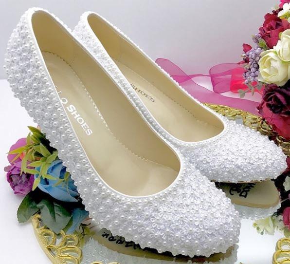 Wedding shoes, Bridal shoes, shoes Handmade PEARL design wedding shoes shoes,  #mel 60ba7a
