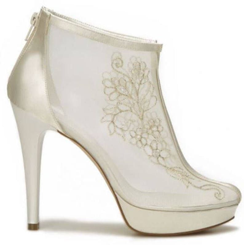 e0f9cd82c3 Wedding shoes, Handmade FRENCH GUIPURE Lace and satin wedding ivory / pearl  white shoes #MCT