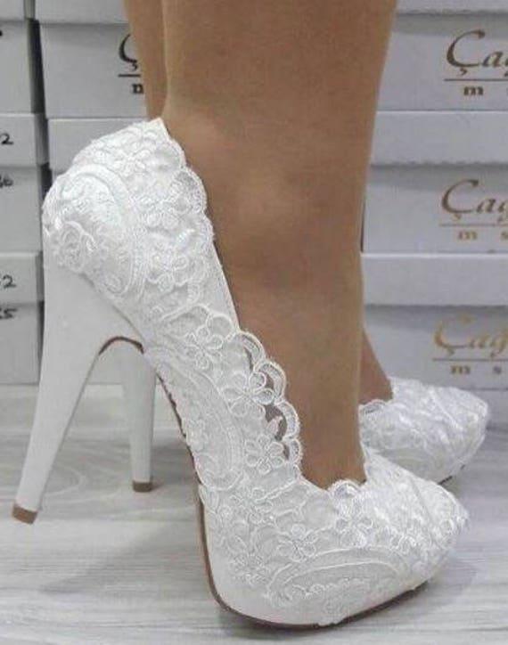 wedding shoes bridal bride bridesmaid handmade lace etsy