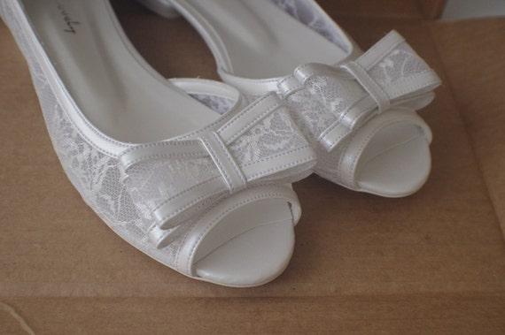 88b1995d66e0 Wedding shoes Bridal shoes HANDMADE Lace Bridal Flats