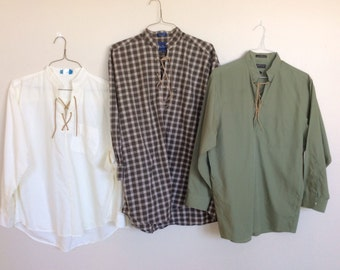 Men's Pioneer Re-made Laced Shirts