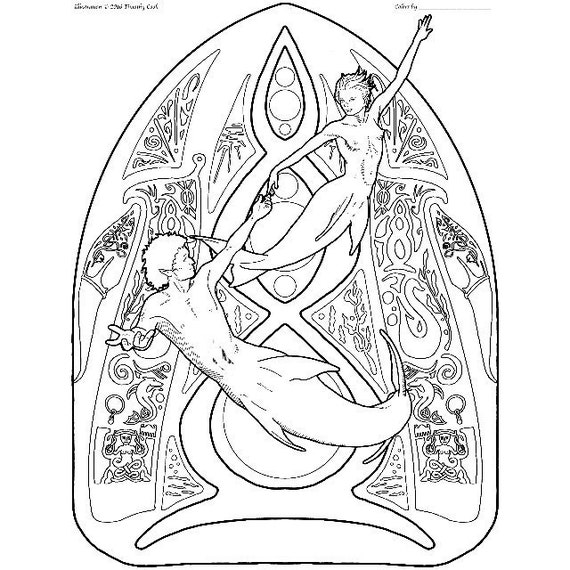 merman and little mermaid coloring pages #coloring   Ariel ...   570x570