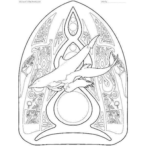 Sirena para colorear página pas de deux 07 | Etsy