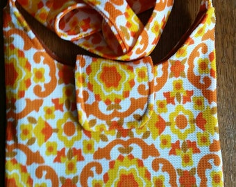 1970s vintage fabric slouch bag