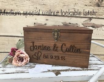 Personalized Wood Card Box  Wedding Cards card box  Anniversary card box  Graduation Card Box