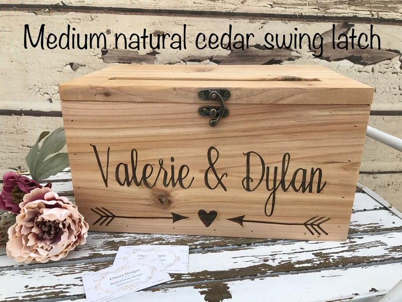 Wooden Card Box  Custom Designs Wedding card Box Anniversary image 0