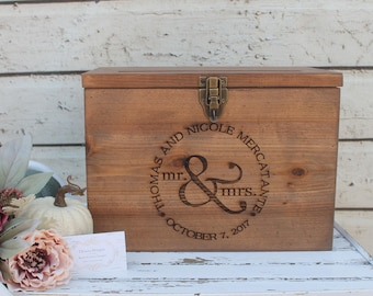 Wood Wedding Card Box, Rustic Wedding Decor, Wedding Card box