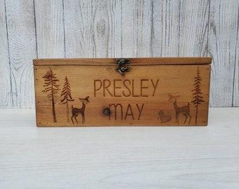 Personalized Keepsake Boxes, Wooden Memory Box, Time capsule box, Baby Keepsake Box, Children's Memory Box