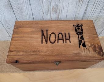 Personalized Keepsake Boxes for Babies, Wooden Memory Box, Time capsule box, Baby Keepsake Box, Children's Memory Box