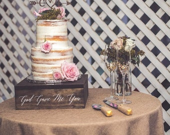 Rustic Cake Stand, Custom Cake Stand, Rustic Wedding