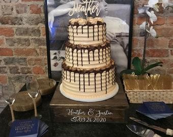 Rustic Cake Stand, Custom Cake Stand, Rustic Wedding, Box Cake Stand, Wooden Cake Stand, Country Wedding, Fall Wedding, Wedding Cake