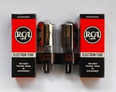 pair RCA 6DA4 vacuum tubes - new old stock - original boxes - tubes in mint condition - matching date codes - octal damper diode