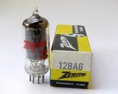 Zenith 12BA6 vacuum tube for All American 5 tube table radios - NOS - original box - General Electric HF93 12BA6 tube