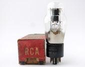 RCA 6ZY5G vacuum tube - black plate - new old stock - original box - ST envelope rectifier tube