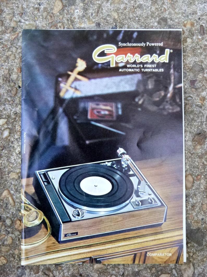 1967 Garrard turntable catalog