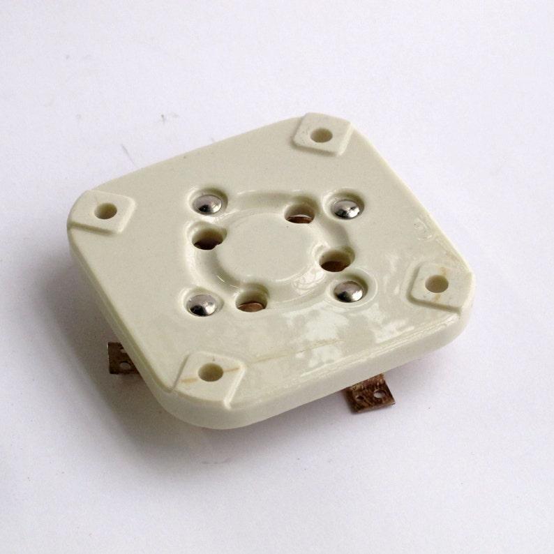 Metal holder miniature B7G base for EL95 STV8510 OG3 Military HiFi Audio Amps Guitar 2x 7 pin SOVIET CERAMIC Silver Pin Tube Sockets
